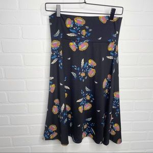 Lularoe Azure floral skirt size medium M 6 8